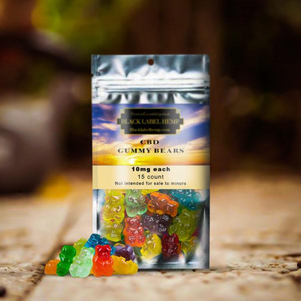 CBD Gummy Bears 10mg Each 15 Count
