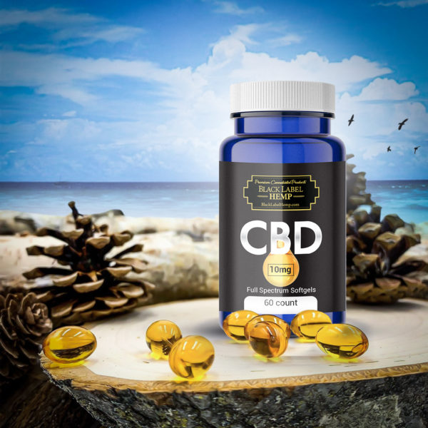 CBD Hemp Oil Softgels 10mg