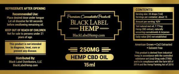 Full Spectrum CBD Oil 250mg 15ml