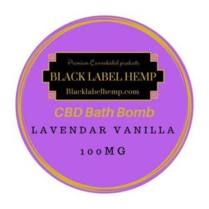 CBD Bath Bomb Lavender Vanilla