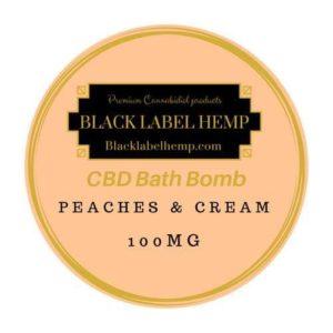 CBD Bath Bomb Peaches & Cream