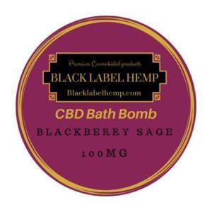 CBD Bath Bomb Blackberry Sage