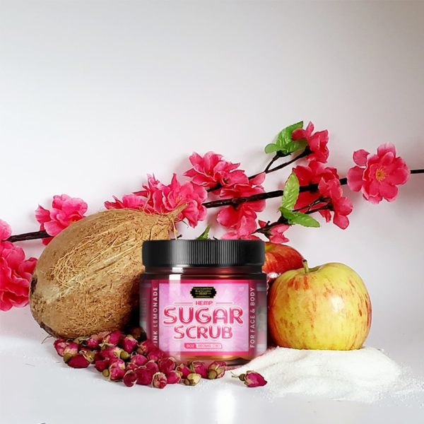 Hemp Sugar Scrub (Pink Lemonade) 8oz. 800mg