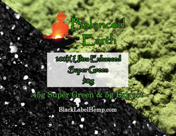 Super Green - 100X Extract - Ultra Enhanced Kratom Powder 50G