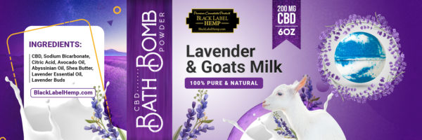 Lavender And Goat's Milk CBD Bath Bomb Powder