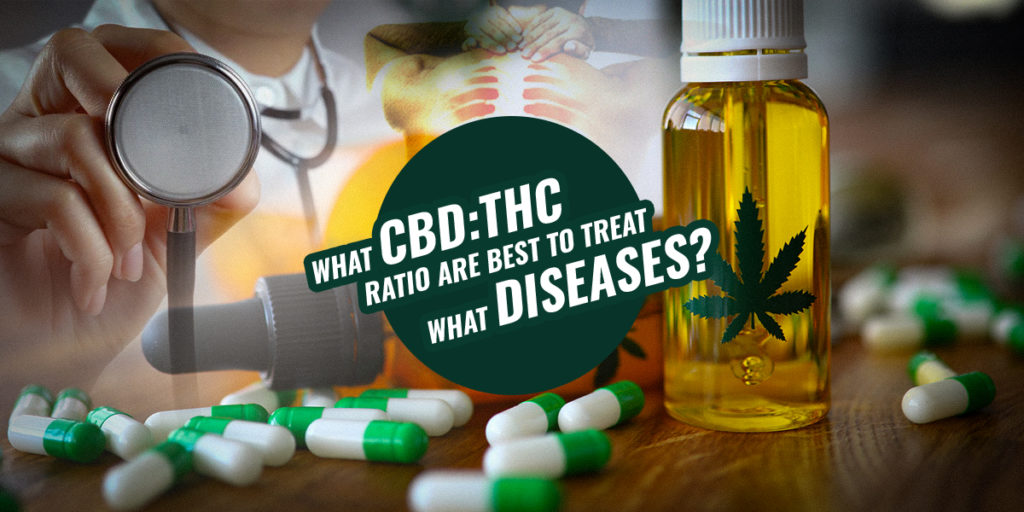 What CBD THC ratio are best to treat what diseases