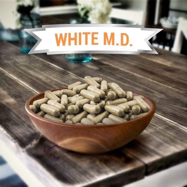 White MD Kratom Capsules