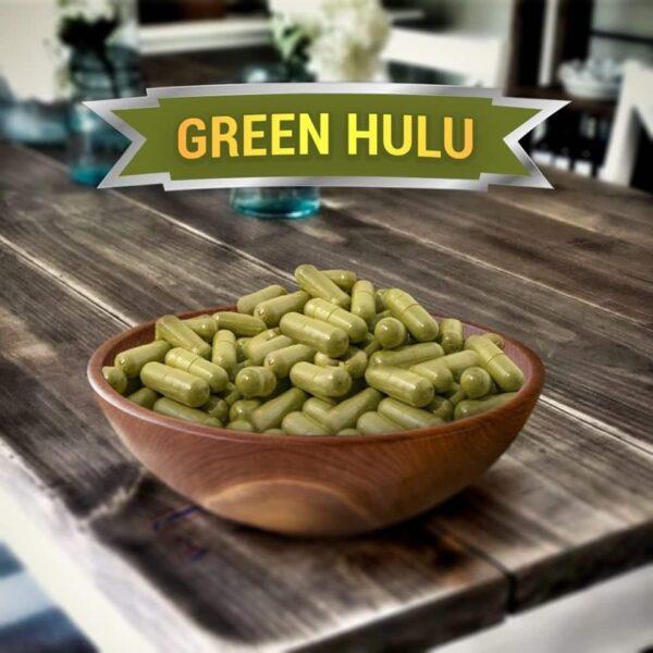 Green Hulu Kratom Capsules