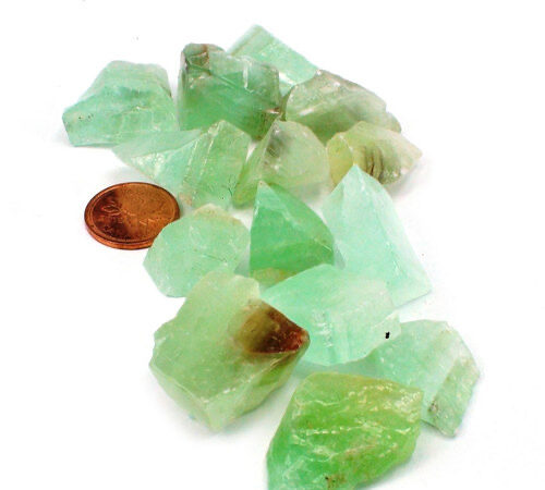 Green Calcite Crystals