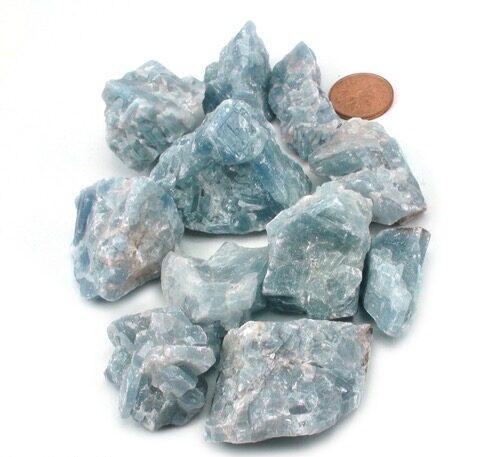 Blue Calcite Crystals
