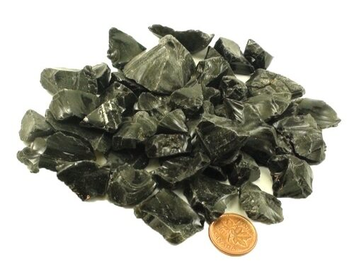 Black Obsidian Crystal - Large