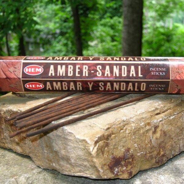 Amber - Sandal Incense Sticks