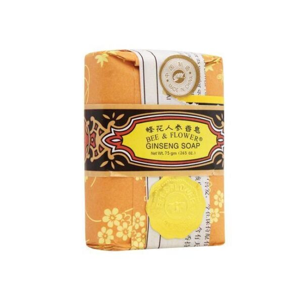 Bee & Flower Bar Soap-  Ginseng