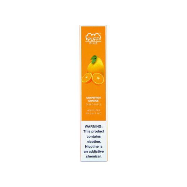 Puff Bar Plus   5% Salt Nic - Grapefruit Orange